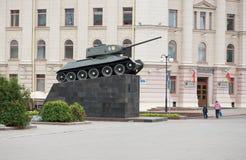 对坦克的纪念碑 库存图片