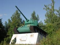 对坦克的纪念碑 Trakhtemyriv T-34 免版税库存图片