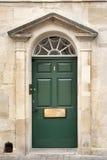 对城内住宅老古色古香建筑的门入口 图库摄影