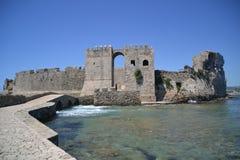 对城堡的入口如被看见从Bourtzi 免版税图库摄影