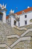 对城堡的台阶 免版税库存照片