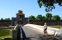 对城堡的门 Hué 越南 免版税库存图片