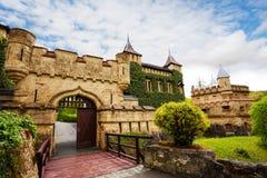 对城堡,德国的Schloss利希滕斯泰因门 免版税库存图片