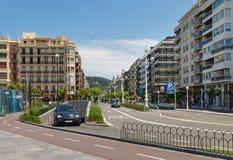 对城市圣塞瓦斯蒂安或Donostia的看法 图库摄影