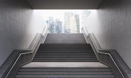 对城市的台阶 库存图片