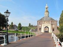 对城市莱顿的历史的中心的入口 库存图片