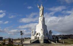 对基督的纪念碑救主 库存图片