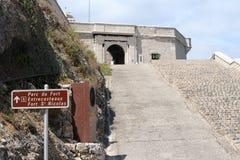 对堡垒圣徒尼古拉斯,马赛,法国的入口 免版税库存图片