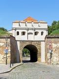 对堡垒Vysehrad布拉格的门 库存图片