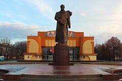 对塔拉斯・舍甫琴科的纪念碑在罗夫诺,乌克兰 库存照片