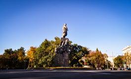 对塔拉斯・舍甫琴科的纪念碑 库存图片