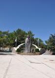 对塞浦路斯的第一位总统的纪念碑 库存图片