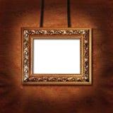 对墙壁的被添加的区剪报框架路径照片 免版税库存图片