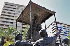 对处女del萝西欧的纪念碑从韦尔瓦省安大路西亚西班牙 免版税图库摄影