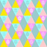 对复活节的无缝的背景与eggs_5 免版税库存图片