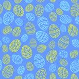 对复活节的无缝的背景与eggs_4 免版税库存照片