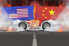 对外贸易战争的U S 对华贸易 免版税库存照片