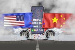 对外贸易- U S 对华贸易 库存照片
