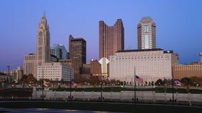 对夜哥伦布,俄亥俄timelapse视图的天地平线4K 影视素材
