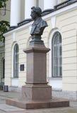 对大俄罗斯诗人A的纪念碑 pushkin 免版税库存图片