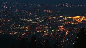 对大城市,能源消耗夜间流逝的天  股票视频