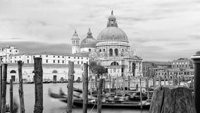 对大教堂圣玛丽亚della致敬,威尼斯的海视图 库存照片
