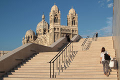 对大教堂的台阶在马赛 库存照片
