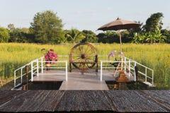 对大阳台的走道在阳大麻柚子花被归档的& x28; 迷离image& x29; 免版税库存图片