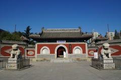 对大贝尔寺庙的门 图库摄影
