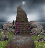 对天堂的不可思议的楼梯 免版税库存图片
