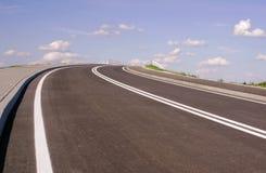 对天堂的沥青高速公路 库存照片