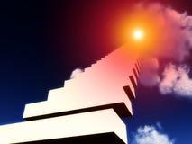 对天堂8的楼梯 库存照片