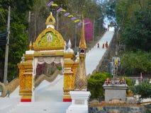 对天堂Wat土井Saket泰国的楼梯 免版税库存照片