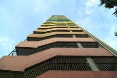 对天空的彩虹梯子 免版税库存图片