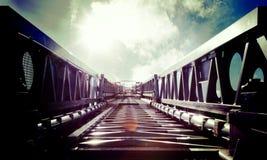 对天空的梯子 免版税库存照片