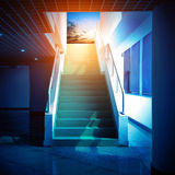 对天空的楼梯 免版税库存照片