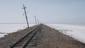 对天空的铁路 免版税库存照片