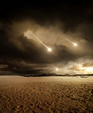 对天空的飞星 免版税图库摄影