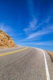 对天空的高速公路曲线 图库摄影