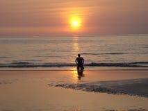 对太阳的祷告 免版税库存照片