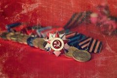 对奖牌构成的减速火箭的作用从巨大爱国战争 免版税图库摄影