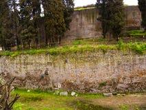 对奥古斯都陵墓的整修在罗马意大利 库存照片