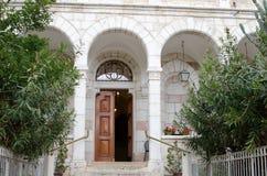 对奥地利招待所的入口在耶路撒冷 库存照片