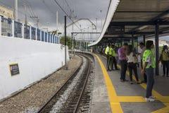 对奥林匹克的火车站由里约的州长开始 库存图片