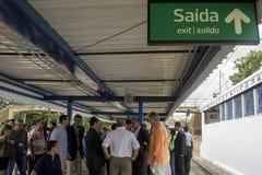 对奥林匹克的火车站由里约的州长开始 免版税图库摄影