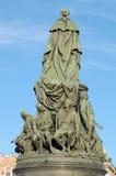 对女王Ekaterina的纪念碑 库存照片