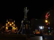 对女皇凯瑟琳的纪念碑和凯旋门在市的中心克拉斯诺达尔 库存图片