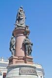 对女皇叶卡捷琳娜二世的纪念碑在傲德萨 库存照片