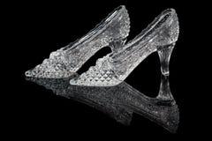 对妇女水晶鞋子 库存图片