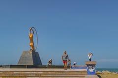 对妇女福特莱萨巴西的纪念碑 库存照片